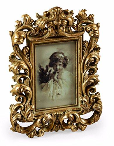 Marco de fotos barroco de oro antiguo de 15 x 10 cm