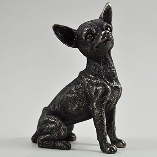 Chihuahua Grande Statua in bronzo cani idea regalo 14cm