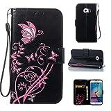 Samsung S6 Edge/Galaxy G9250 Hülle Case, COZY HUT LederHülle Leder Tasche Case Cover für Samsung S6 Edge/Galaxy G9250 5,1