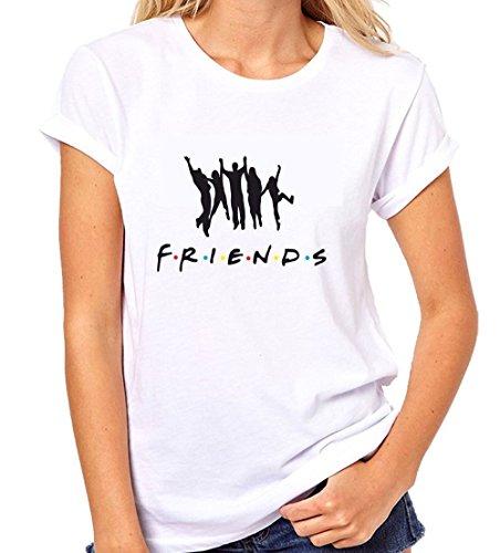 Crazy Sutra Half Sleeve Casual Printed FRIENDS Unisex Boy's/Men's/Women's Tshirt |Funky Tshirts [T-Friends_XL_w]