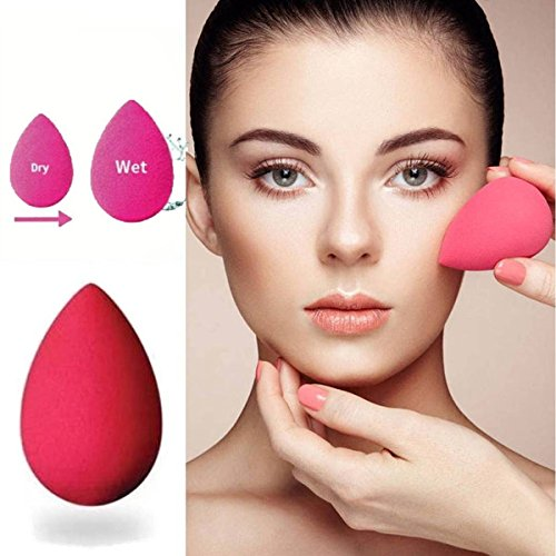 RIANZ Water Drop Shaped Sponge Concealer Puff Flawless Foundation Base Beauty Makeup Blending Powder Puff Sponge Cosmetic Powder Puff, Color May Vary (Set of 1)