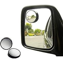 Manfore Seitenspiegel Toter Winkel//Toter Winkel Spiegel HD Glass 360 Grad Rotation Verstellbar R/ückspiegel Links + Rechts Konvexen Toter Winkel Spiegel Hilfe Blind-Spot