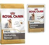 Royal Canin Hund Yorkshire Terrier Adult 500g Trockenfutter + 4x Feuchtfutter
