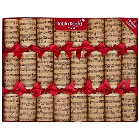 Robin Reed 5168825cm Cracker di Natale Concerto scritta (Reed & Barton Vetro Tongs)
