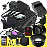 DavisMAX Two Canon EOS 70D DSLR Camera with 18-135mm STM f/3.5-5.6 Lens LP-E6 Lithium Ion Battery and External Rapid Charger + 8GB SDHC Class 10 Memory Card + 67mm 3 Piece Filter Kit + Ful