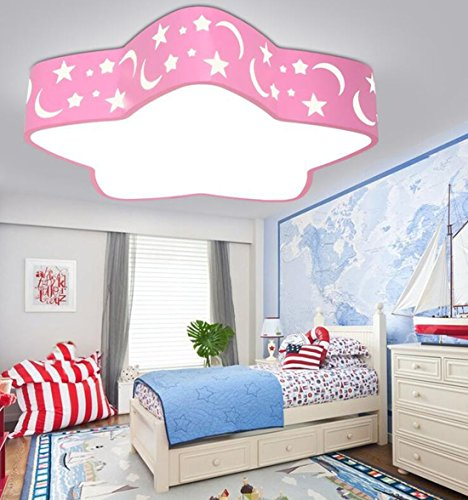 ayaya kinderlampe sterne pink kinderzimmer flach rosa rund led deckenleuchte schlafzimmerlampe. Black Bedroom Furniture Sets. Home Design Ideas