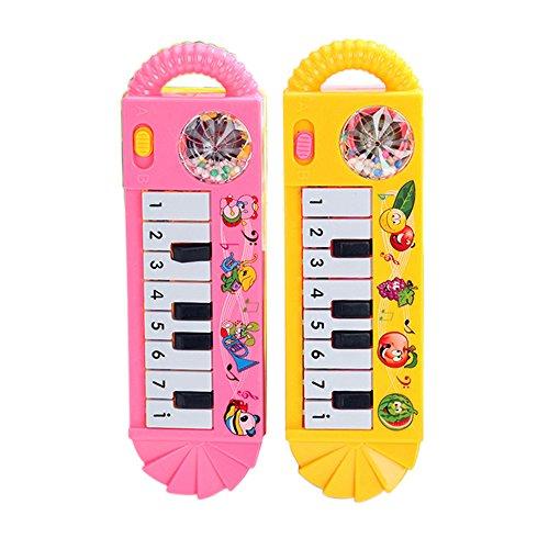 Vi.yo Kinder Elektronische Piano Musik Spielzeug Kleine Violine Tastatur mit acht Schlüsseln Musikinstrumente, 1 Stück (Farbe zufällig) (Musikinstrumente Mini Spielzeug)