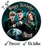 personalisiert Harry Potter Essbarer Zuckerguss Kuchen Topper 4Größen - Rund