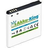 Akku-King Akku für HTC Sensation, XE, EVO 3D, Pyramid, Google G14 - ersetzt BG58100, BG86100, BA-S560, BA-S590 - Li-Ion 1800mAh