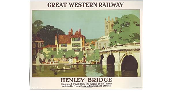 Vintage GWR Henley on Thames A3 Railway Poster Reprint