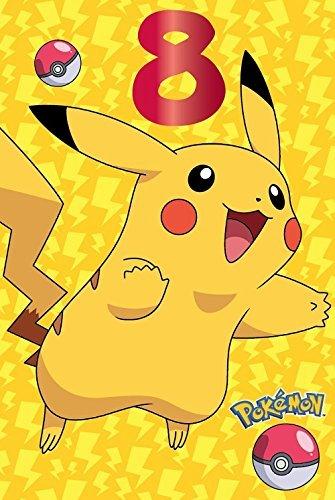 Pokemon 8ter Geburtstagskarte Pikachu