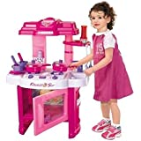 Negi Battery Operated Beauty Kitchen Appliance Cooking Play Set With Lights & Sound ( 24 Pieces)