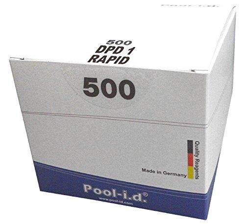 Preisvergleich Produktbild 500 Pooltester Testtabletten DPD No. 1 Chlor / Brom