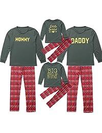 bf53b79edf3 Family Matching Christmas Pajamas Set 3PCS Women Men Kids Children Letter  Romper+Pants+Hat