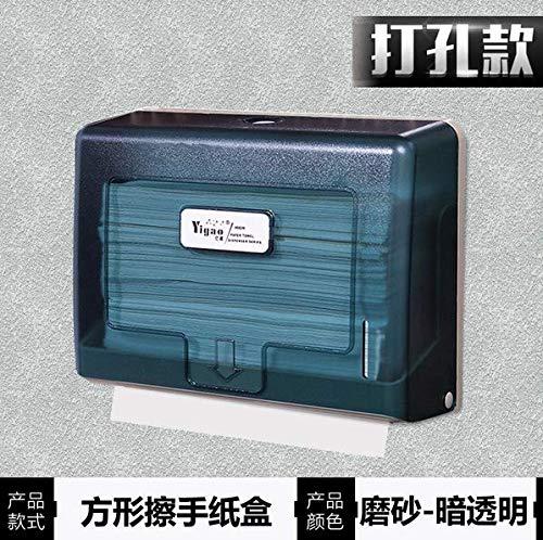 Tissue-Box ZZSIccc Badezimmer Hotel Wand-Montiert Kunststoff-Händetrockner Haushaltsnahrung Hängen Papierhandtuchhalter Papierhandtuchhalter H