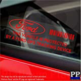 5 x PPFORDGPSRED GPS Tracking Device Security RED onto CLEAR, WINDOW Stickers 87x30mm-Car,Van Alarm Tracker