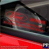 5x ppfordgpsred GPS-Tracking Gerät Sicherheit rot auf transparent, Fenster Aufkleber 87x 30mm-car, Van Alarm Tracker