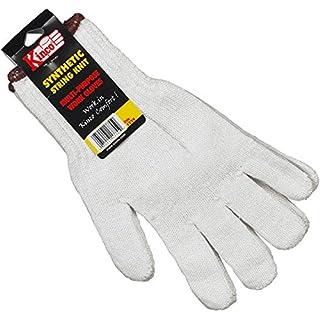 KINCO 1775-12PK-M Men's Heavy Weight Polyester/Cotton Blend String Knit Gloves, Medium, White (Pack of 12)