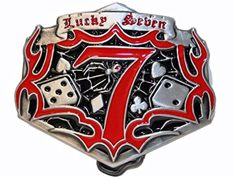 Big Lucky Seven Buckle m. Würfeln, Poker, Dice