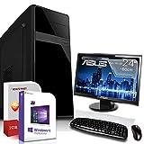 Multimedia PC mit Monitor AMD A4-6300 2x3.7GHz |ASUS Board|24 Zoll TFT|8GB DDR3|1000GB HDD|Radeon HD8370D HDMI|DVD-RW|USB 3.0|SATA3|Sound|Windows 10 Pro|GigabitLan|3 Jahre Garantie|Made in Germany|Com