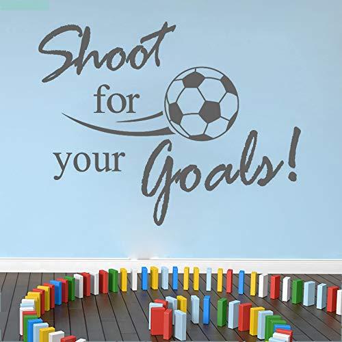 jiuyaomai Schießen für Ihre Ziele Fußball Wandaufkleber Sport Wohnkultur Kinder Kinderzimmer Dekoration Wohnzimmer Wandtattoos -