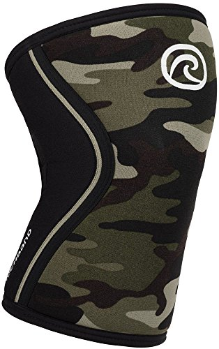 Rehband Rx Knee Support 7mm Neopren Bandage, Camouflage, M (35-37 cm Umfang)