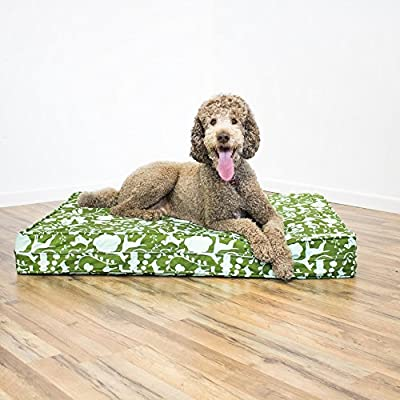 Orthopedic Dog Bed - 12 cm Thick | Supportive Gel Memory Foam - Made in the USA | 100% Cotton Removable Cover w/ Waterproof Encasement | Fully Washable | Small, Medium & Large Dogs
