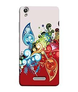 PrintVisa Designer Back Case Cover for Lava Pixel V1 (Multi colour Stripes Dec 25 Cute Owl Designer Case Mercy Hat Cell Cover Long Ears Pet Smartphone Cover Christmas Xmas )