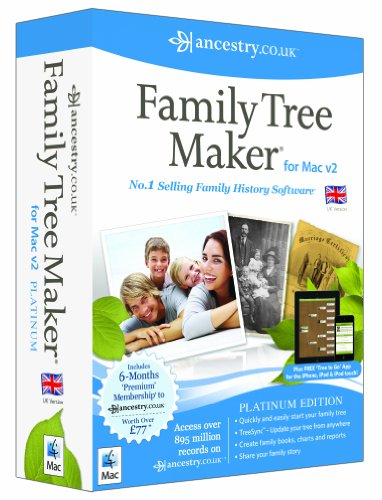 Family Tree Maker for MAC v2 Platinum (Family Tree For Mac)