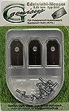 9 Messer & Schrauben für Husqvarna Automower ® und Gardena R40Li / R70Li etc. - Klingen Ersatzmesser