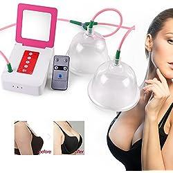 Elektrische Vakuumsauger Vakuum Massagegerät für Brust Enlarger Brustvergrößerung Bust Developer Körper Hautstraffung Blutzirkulation Förderung(L)