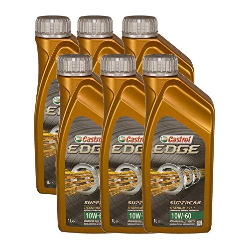 Castrol EDGE SUPERCAR 10W60 - Olio per Auto, Lubrificante Titanium 10W-60 6 Lit