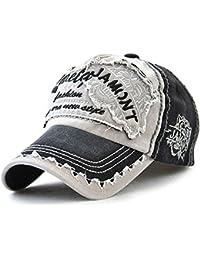 Tioamy Baseball Kappe Basecap Unisex Einstellbare Retro Baseball Hut  Freizeit Cap modischste Cotton Cap Schreiben Outdoor 10d10af43c