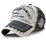 Tioamy Baseball Kappe Basecap Unisex Einstellbare Retro Baseball Hut Freizeit Cap modischste Cotton Cap Schreiben Outdoor Hut für Männer und Frauen