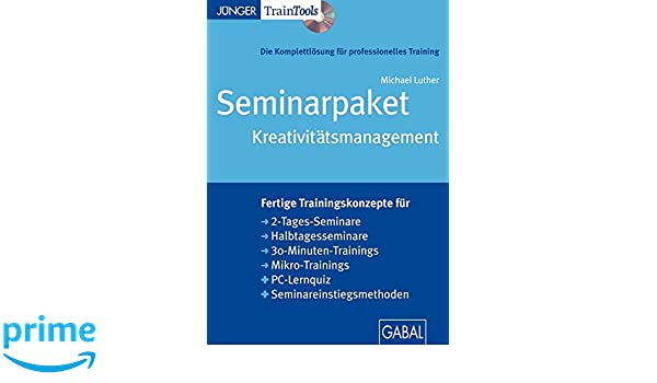 und pdf Seminarpaket Kreativitätsmanagement Seminarpaket als CD-ROM mit Word-