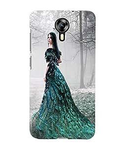 Fuson 3D Printed Fantasy Girl Designer Back Case Cover for Micromax Canvas Xpress 2 E313 - D869