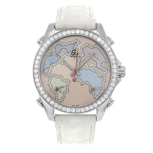 jacob-co-five-time-zones-jcm-125-white-dial-factory-set-diamond-bezel-unisex-watch