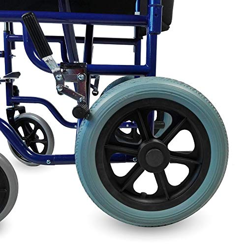 51R5y9 YJvL - Mobiclinic - Silla de ruedas de tránsito, Plegable, Reposabrazos y reposapiés extraíbles , Negro