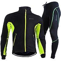 TollMode Herren Fahrradbekleidung Set Lang Winter Radjacke und Fahrradhosen