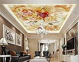 Yosot 3D-Tapeten Fototapete Benutzerdefinierte Wandbild Engel Und Rose Blume Decke 3D Gemälde Malerei 3D Wandbild Tapeten Für Wände 3D-350Cmx245Cm