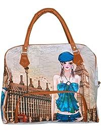 MD Enterprises Women's Handbag (Multi-Coloured, DM039)|Printed Handbags For Women's |Designer Girls Bag