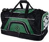Brubaker 'Big Base' XXL Sporttasche 90 L mit großem Nassfach als Bodenfach + Schuhfach - Schwarz/Grün