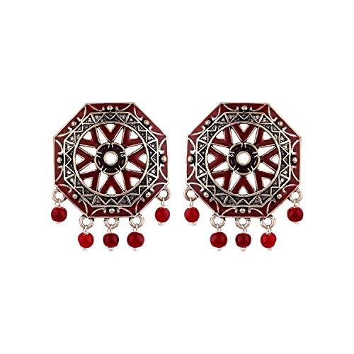 Voylla Stud Earrings for Women (Silver)(8907617887753)