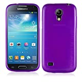 Cadorabo Hülle für Samsung Galaxy S4 Mini - Hülle in LILA – Handyhülle aus TPU Silikon in gebürsteter Edelstahloptik (Brushed) Silikonhülle Schutzhülle Soft Back Cover Case Bumper