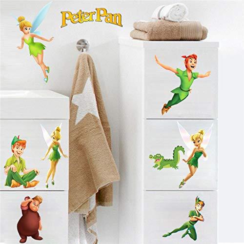 Mädchen Diy Geschenk Kinder Geschenk Peter Pan Wandaufkleber Märchen 3D Aufkleber Cartoon Tapete Dekor für Schlafzimmer - Kinder, Disney Tapete, Mädchen,