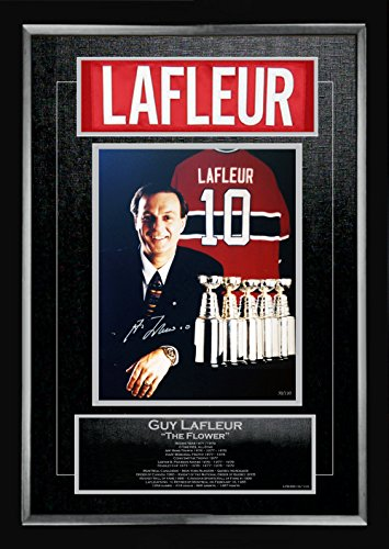 Generic Guy Lafleur Signed Career Collectible - Ltd Ed of #10 of 110 - Museum Framed -