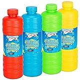 Botella gigante de 1 litro de solución de burbujas líquida con varita muy divertida con los niños, ideal para pistola de burbujas o pistola grande