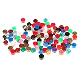 #5: MagiDeal 100 Pieces Colorful Octagon Sealing Wax Sticks Beads for Wax Seal Stamp