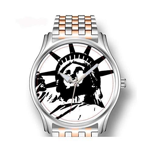 Herrenuhren Roségold Edelstahl Sport Business Watch Männliche Uhr Vintage Spinnennetz Personalisierte Halloween Spinnen Armbanduhr (Spinnennetze Halloween Spinnen,)