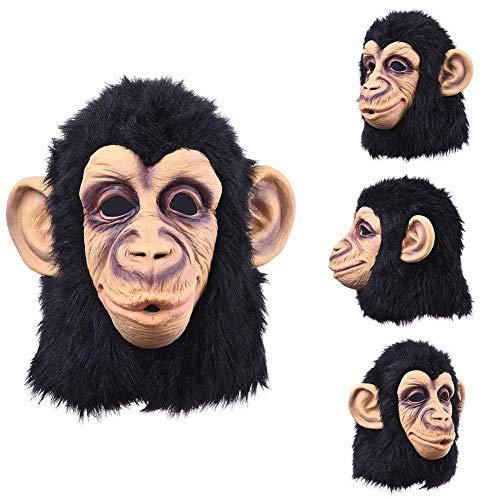 RTGFS Neue Gorilla AFFE Halloween Masken Erwachsene volles Gesicht lustige Maske Latex Halloween Party Cosplay Kostüm Maskerade realistische (Realistische Gorilla Kostüm Für Erwachsene)